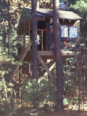 two tree treehouse plan
